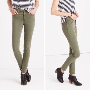 Madewell High Riser Skinny Jeans Green